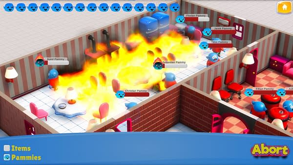 A cutely morbid screenshot from Panic Mode, a crisis management simulator game by Moebiusgames.