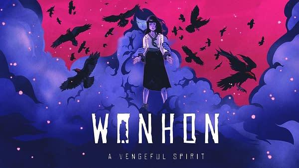 Key art for Wonhon: A Vengeful Spirit, a spooky indie action-adventure game by developer Busan Sanai Games and publisher Super.com.