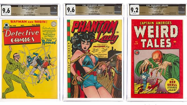 Detective Comics #140, Phantom Lady #17, Captain America Comics #74 from the Promise Collection