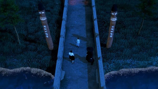 A screenshot from Busan Sanai Games and Super.com's paranormal indie action-adventure game, Wonhon: A Vengeful Spirit.