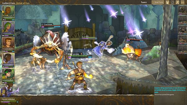 Another papercraft-style combat screenshot from Worldwalker Games' indie character-driven RPG, Wildermyth.