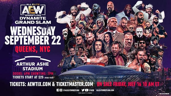 AEW Dynamite: Grand Slam will be AEW's first foray into New York City this September.