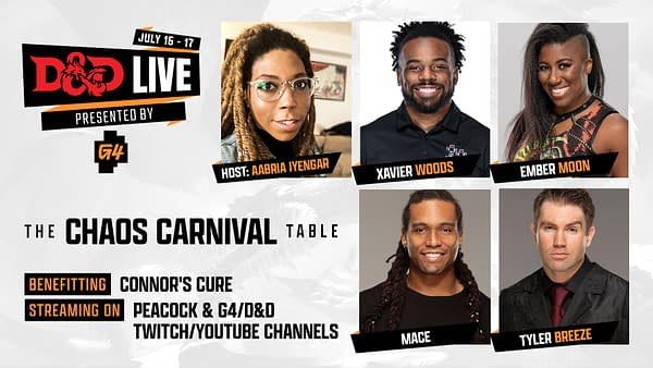 A look at the case of The Chaos Carnival during D&D Live 2021, courtesy of Wizards of the Coast.