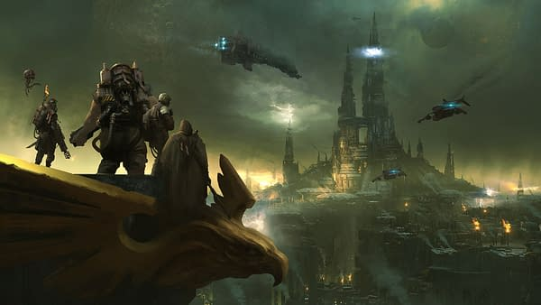 Another piece of key art from Warhammer 40,000: Darktide, an upcoming game by independent video game developer Fatshark.