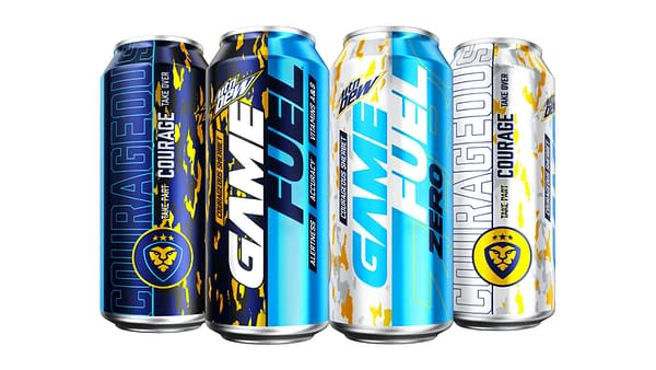 A look at the cans for CouRageous Sherbet, courtesy of MTN DEW.