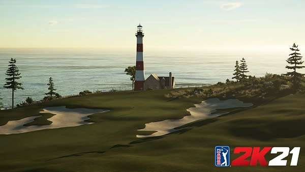 A look at one of the new multiplayer courses, with its own lighthouse. Courtesy of 2K Games.