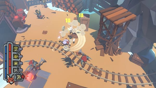 Another screenshot from Glowfish Interactive's upcoming action-adventure game, Trifox.