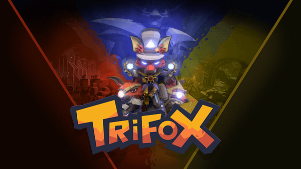 Key art for Trifox, an action-adventure game by independent video game developer Glowfish Interactive that is slated to be released on various consoles in Q1 of 2022.