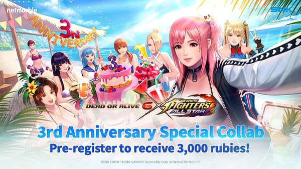 Looks like these gals know how to throw a party, but who brings cake to the beach? Courtesy of Netmarble.