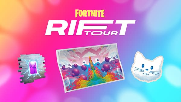 A look at the items you can snag in the Rift Tour, courtesy of Epic Games.