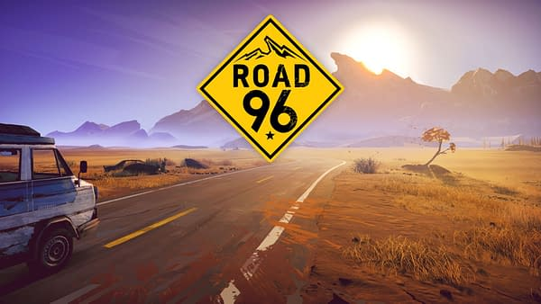 The beautiful panoramic key art for Road 96, a procedurally-generated indie road trip game by Montpellier-based video game developer DigixArt.