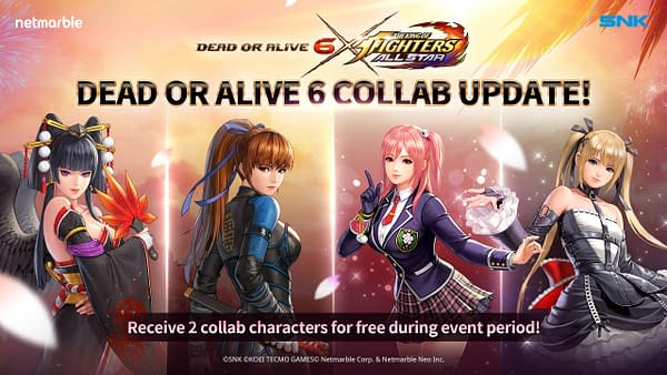 A look at the DOA6 gang in The King Of Fighters AllStar, courtesy of Netmarble.