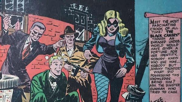 Flash Comics #86 featuring Black Canary, title splash.
