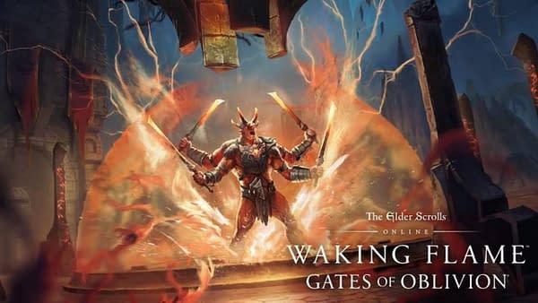 Prepare for the blaze in Elder Scrolls Online, courtesy of Bethesda Softworks.