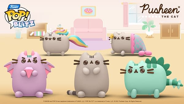 A look at the five special Pusheen character entering Funko Pop! Blitz this week, courtesy of N3TWORK.