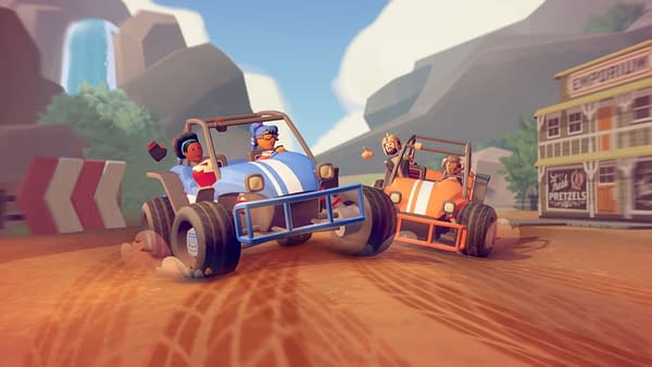 Take your rec battles onto the dirt roads with this new racing title, courtesy of Rec Room.