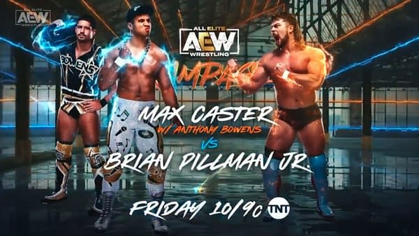 Max Caster will face Brian Pillman Jr. on AEW Rampage on Friday.