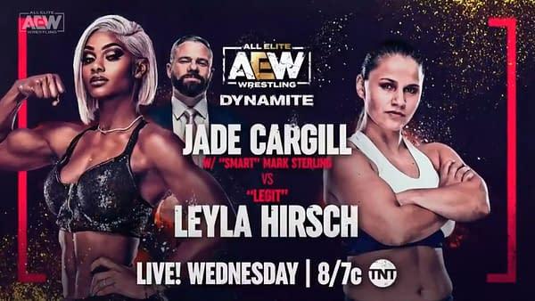 Jade Cargill faces Legit Layla Hirsch on AEW Dynamite next week.