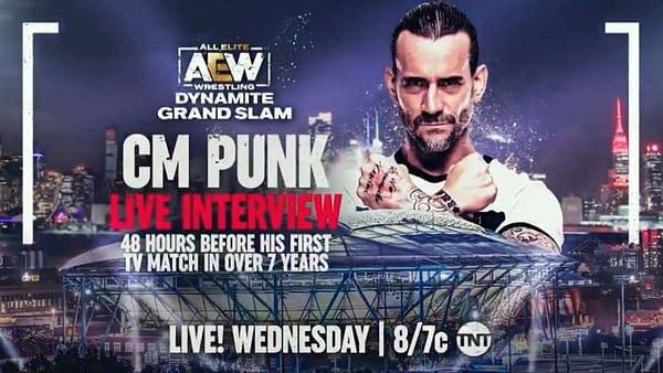 AEW Dynamite Grand Slam: CM Punk speaks ahead of his match on Rampage