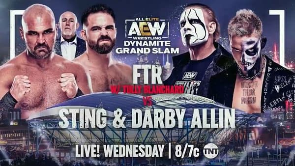 AEW Dynamite Grand Slam: FTR faces Sting and Darby Allin