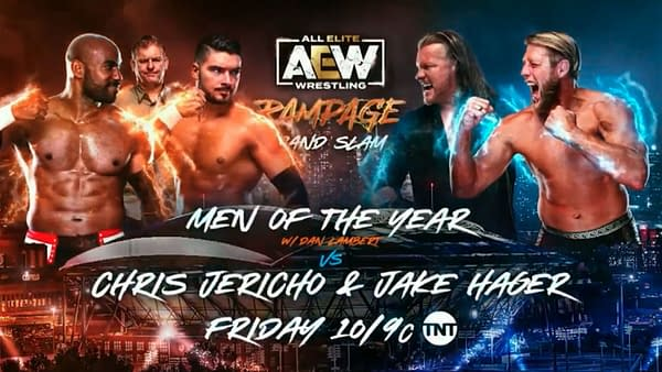 AEW Rampage Grand Slam: Chris Jericho and Jake Hager will look to shut up Dan Lambert by facing the Men of the Year, Scorpio Sky and Ethan Page
