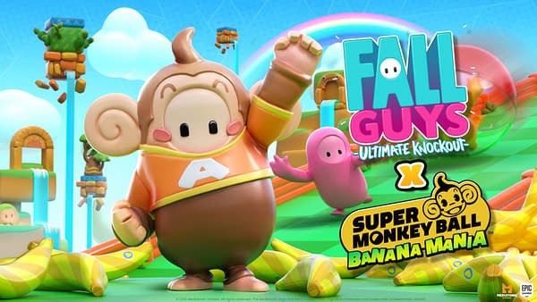 A look at the Super Monkey Ball costume being added to Fall Guys, courtesy of Mediatonic.