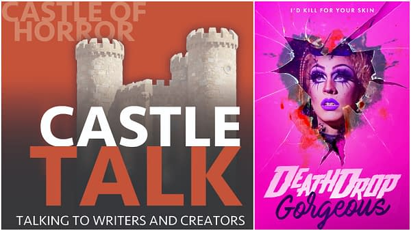 Castle Talk logo and Death Drop Gorgeous poster used with permission