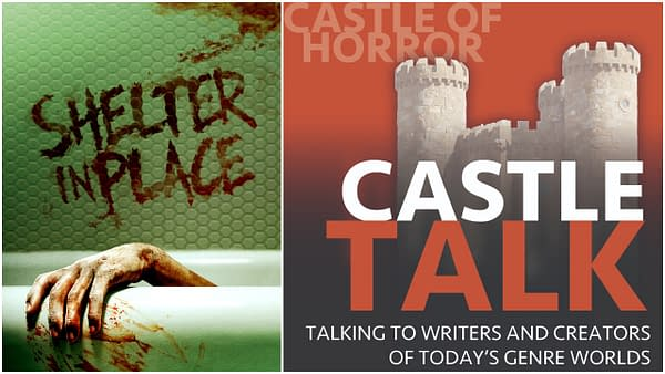 Shelter in Place poster and Castle Talk logo used with permission