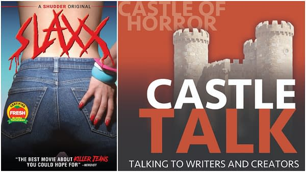 SLAXX Poster and Castle Talk Logo. Images Used With Permission.