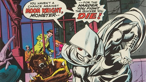 Werewolf by Night # 32 with Moon Knight, Marvel 1975.