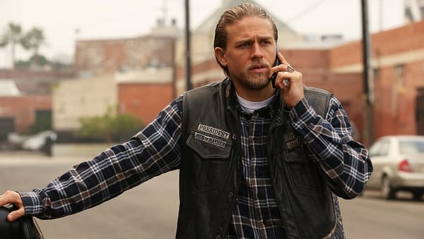 "SONS OF ANARCHY -- ""Red Rose"" -- Episode 712 -- Airs Tuesday, December 2, 10:00 pm e/p) -- Pictured: Charlie Hunnam as Jax Teller. CR: Byron Cohen/FX"