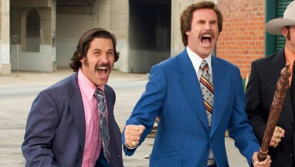 Will Ferrell and Paul Rudd in Anchorman, courtesy of Paramount.