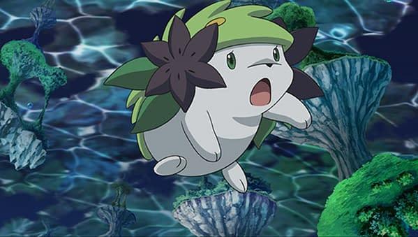 Shaymin animation still. Credit: The Pokémon Company