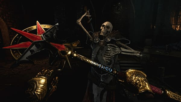 Look at this skeleton, look at this staff, and tell me you don't instantly want to bash the head in! Courtesy of Carbon Studio.