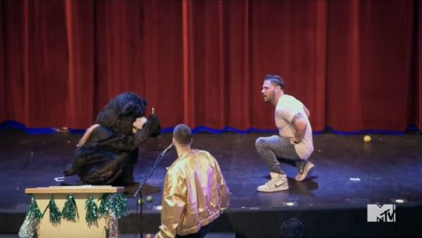 A scene from the Jersey Shore: Family Vacation talent show.