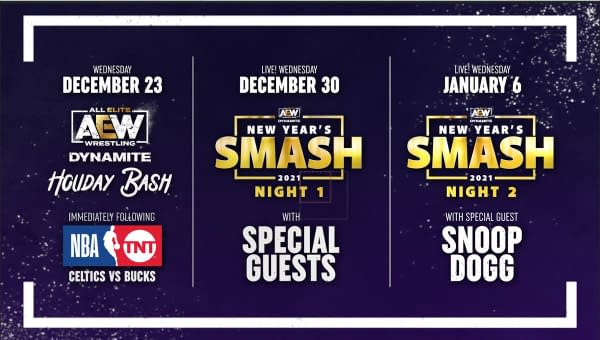 Here's AEW Dynamite's schedule for the Holiday season