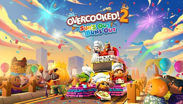 We'll be cooking on the grill in the middle of summer in Overcooked 2! Courtesy of Team17.