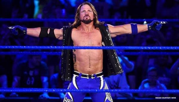 AJ Styles enters the ring on SmackDown, courtesy of WWE.