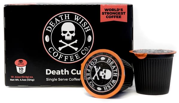 The single-serve version of Death Wish Coffee.