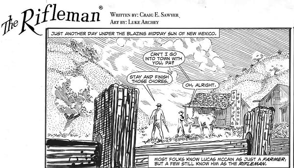 Putting The Rifleman Back Into Comic Books.