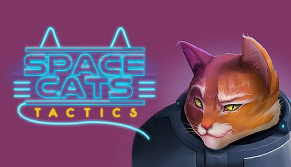 Key art from independent developer Mitzi Games' epic space opera and strategy game, Space Cats Tactics.