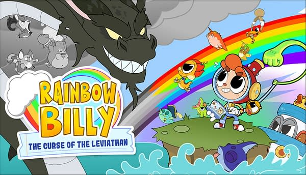 Can Rainbow Billy bring light and color back to the world? Courtesy of Skybound Games.