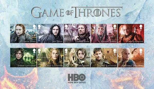 Winter is Coming to Royal Mail with Game of Thrones Postage Stamps