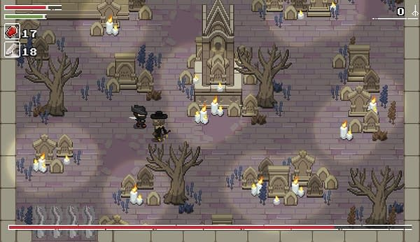 You thought Bloodborne was hard? Try it in 2D with Yarntown. Courtesy of Max Mraz.