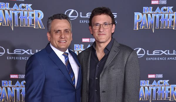 Anthony Russo and Joe Russo arrives for the 'Black Panther' World Premiere on January 29, 2018 in Hollywood, CA. Editorial credit: DFree / Shutterstock.com