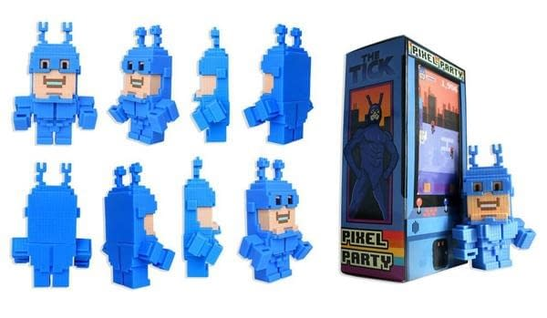 A Look At The Pixel Party Action Figure Of The Tick