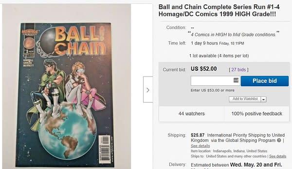Ball & Chain $52 on eBay Over Scott Lobdell/Dwayne Johnson/Emily Blunt.