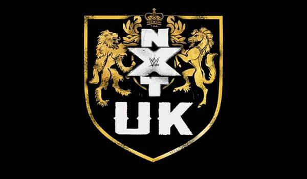 The logo for WWE wrestling brand NXT UK