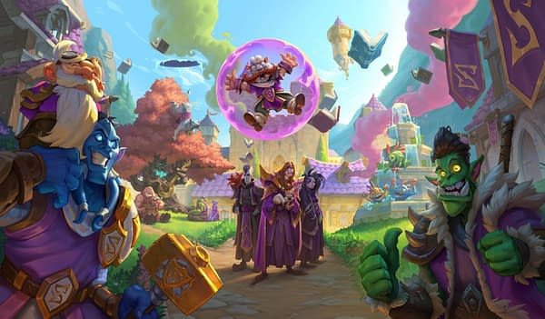 Artwork for Hearthstone's latest expansion, Scholomance Academy. Courtesy of Blizzard.