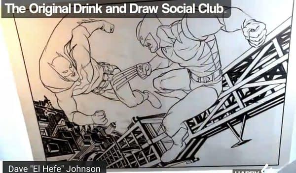 Dave Johnson draws Batman Vs Wolverine.